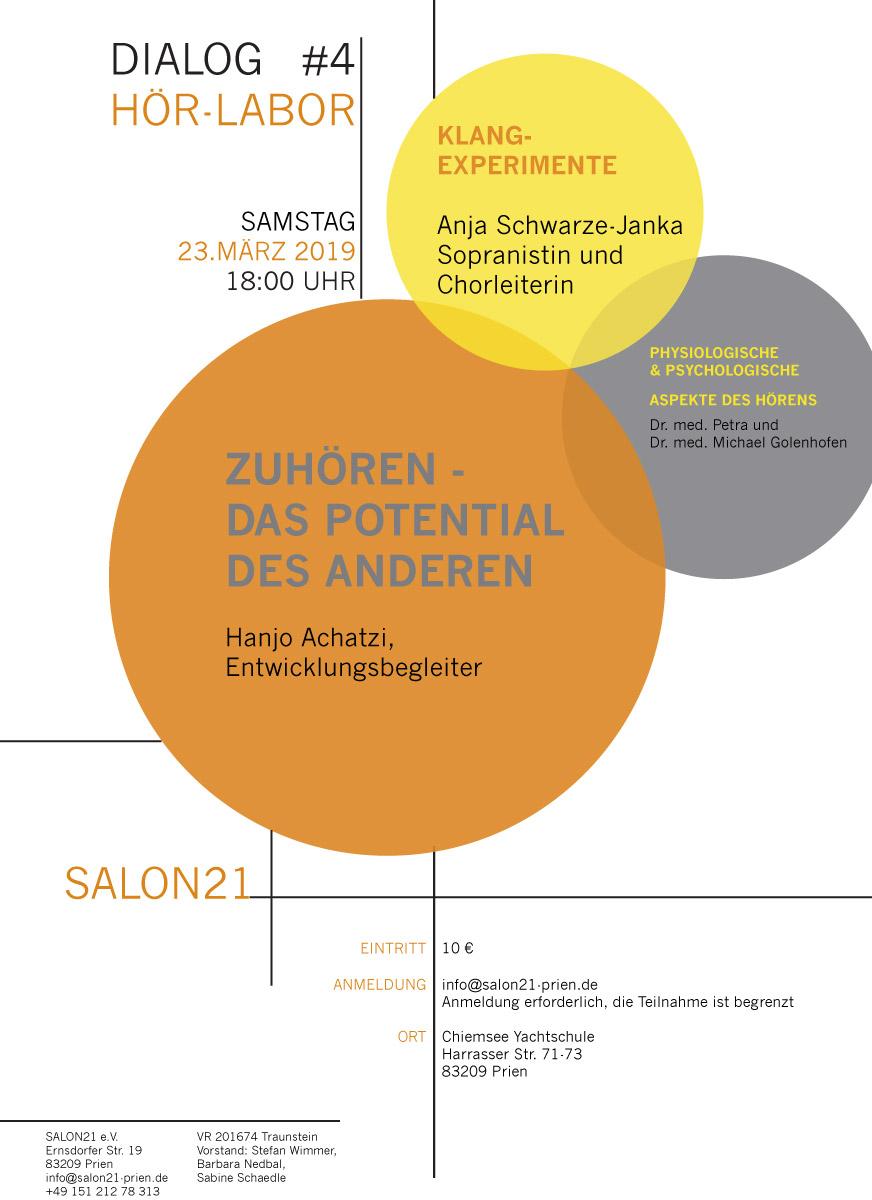 DIALOG #4 | HÖR-LABOR | Salon21 Prien