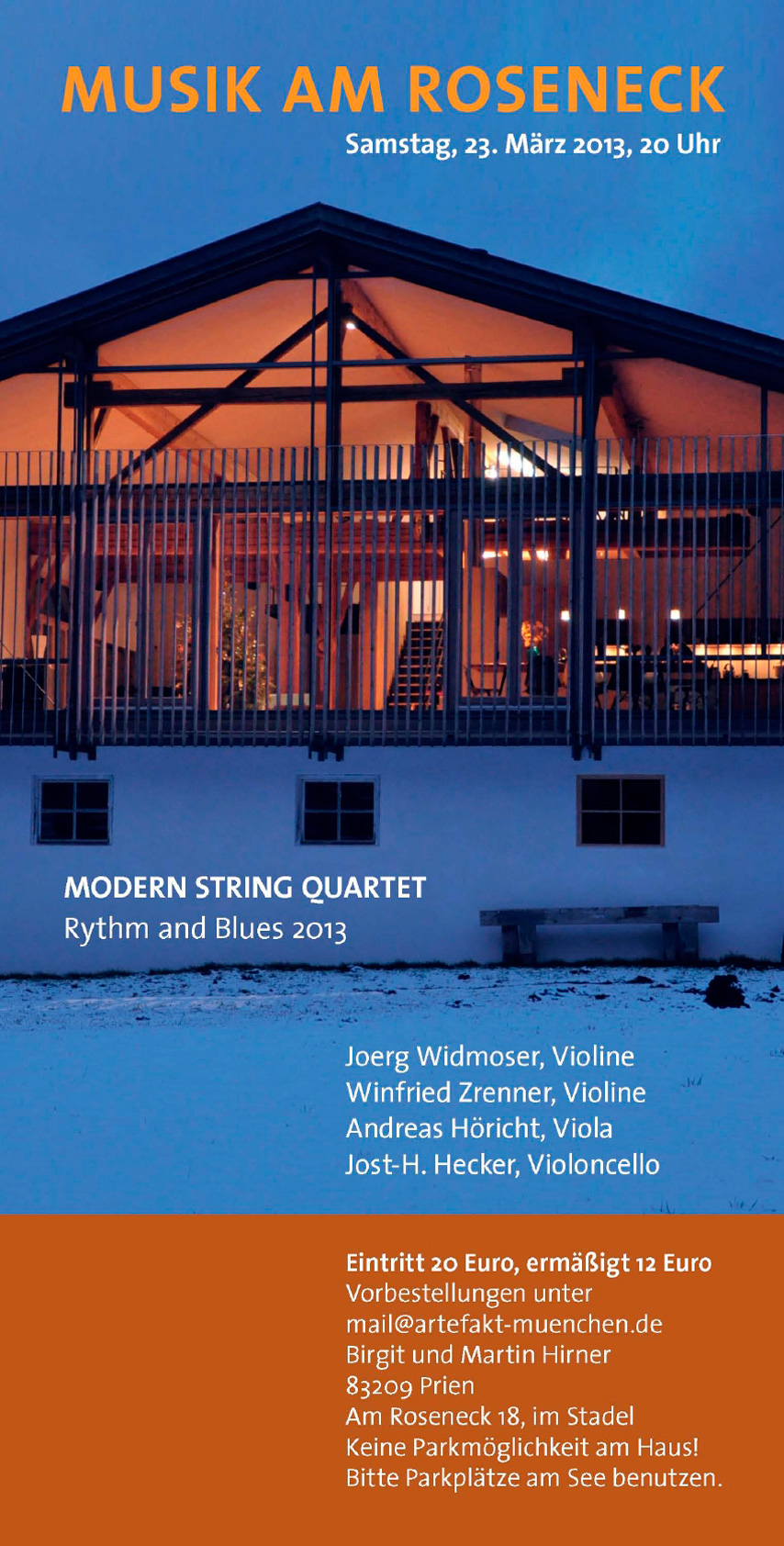Konzert 1: Modern String Quartett | Salon21