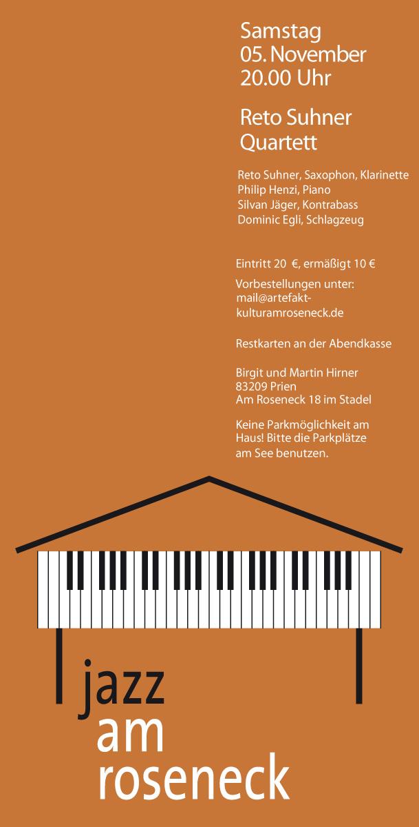 Konzert 19: RETO SUHNER - QUARTETT | Salon21